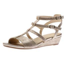 Parram Spice Gold Gladiator Wedge Sandal