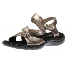 Saylie Moon Pewter Leather Sandal