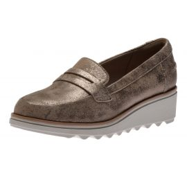 Sharon Ranch Pewter Wedge Loafer