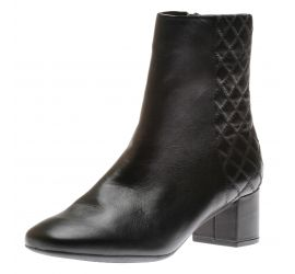 Tealia Luck Black Leather Ankle Boot