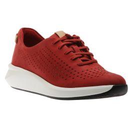 Un Rio Tie Red Nubuck Sneaker