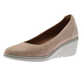 Un Tallara Dee Sand Leather Wedge Heel