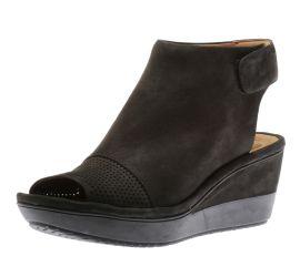 Wynnmere Abie Black Nubuck Wedge Sandal