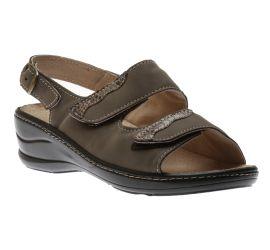 Sandal 2 Velcr Taupe