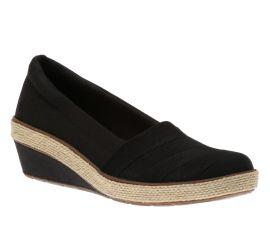 Cleo Wedge Black