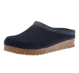 GZL Grizzly Wool Captain's Blue Leather Trim Clog