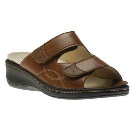 Slide 2 Velcro Brown