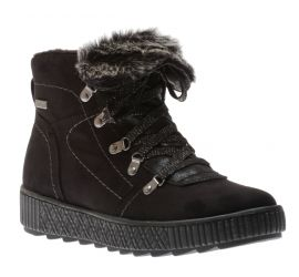 Boot Lace Fur Black
