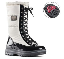 Glamour White/Black Winter Boot