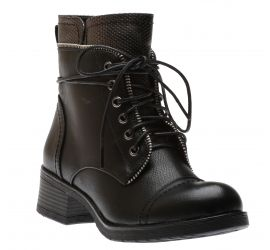 Ladies Lace Boots Bl