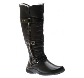 Gabrielle 2 Wide Calf Black Leather Tall Boot
