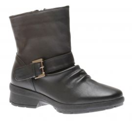 Gripper Black Leather Moto Boot