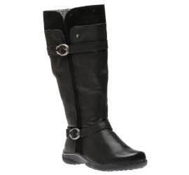 Rachel Wide Calf Black Tall Boot