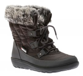 Snowflake Grey Lace-Up Winter Boot