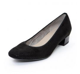 Miranda Black Suede Low Heel
