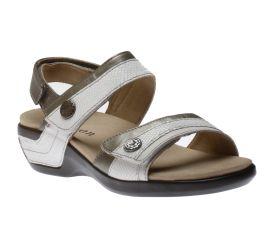 Katherine White/Bronze Sandal