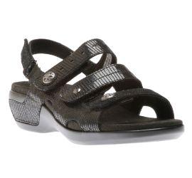 Power Comfort Three Strap Black Sandal