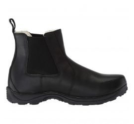 Telluride Black Leather Winter Chelsea Boot