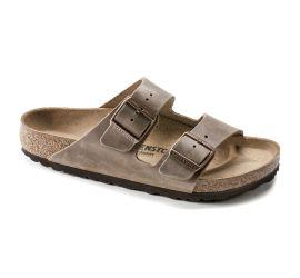 Arizona Tobacco Brown Oiled Leather Sandal