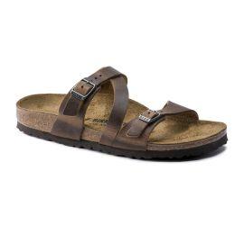 Salina Tobacco Brown Leather Sandal
