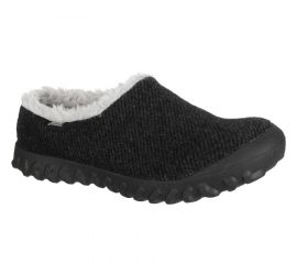 B- Moc Slip-On Wool Black Slipper