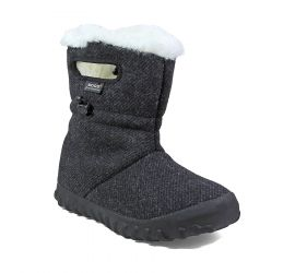 B- Moc Wool Black Women's Insulated Boot