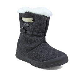 B- Moc Wool Charcoal Women's Insulated Boot