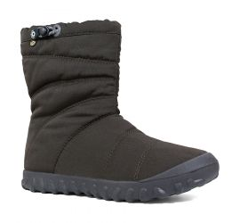 B Puffy Mid Black Women's Lightweight Insulated Boot