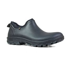 Sauvie Slip-On Black Men's Waterproof Boot