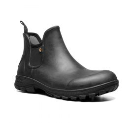 Sauvie Black Slip-On Waterproof Boot