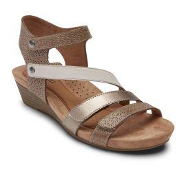 Hollywood 4-Strap Brown Sandal