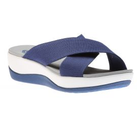 Arla Elin Blue Slide Wedge Sandal