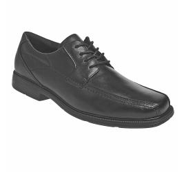 Douglas Black Leather Lace Up Oxford Dress Shoe