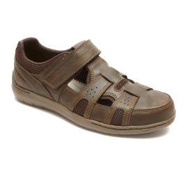 FitSmart Brown Leather Fisherman Sandal