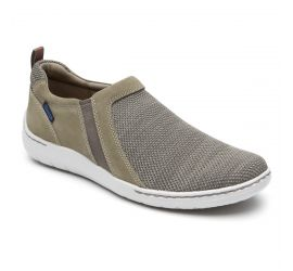 FitSmart Taupe Double Gore Slip-On Shoe