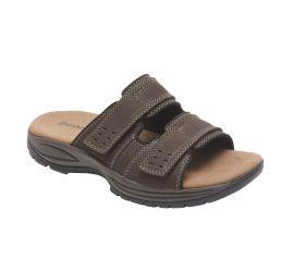 Newport Dark Brown Adjustable Slide Sandal