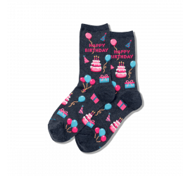 Hotsox Women's Happy Birthday Crew Socks