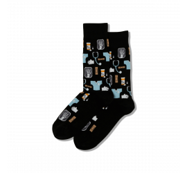 Hotsox Men's Medical Black Crew Socks