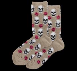 Hotsox Skull and Roses Socks