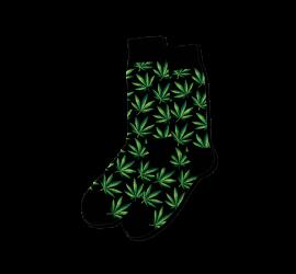 Hotsox Men's Weed Crew Socks