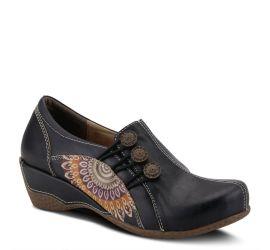 Agacia Black Leather Slip-On Shoe