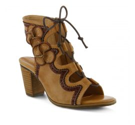Alejandra Beige Leather Dress Sandal