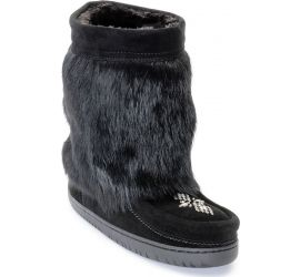 Waterproof Half Mukluk Black Boot
