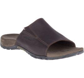 Sandspur Brown Leather Slide Sandal