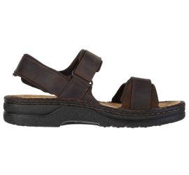 Arthur Coal Nubuck Leather Adjustable Straps Casual Sandal