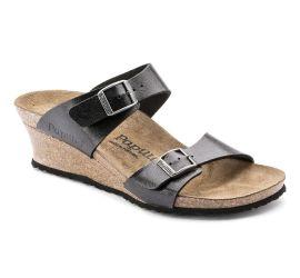 Dorothy Black Birko-Flor Slip-On Wedge Sandal