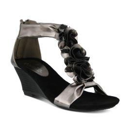 Harlequin Pewter Wedge Sandal