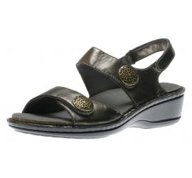 Candace Pewter Leather Sandal