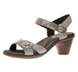 Mila White/Metallic Snakeskin Sandal