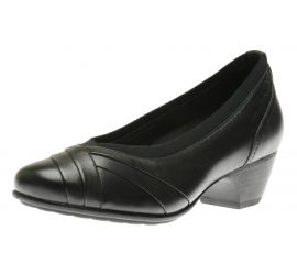 Patsy Black Leather Pump